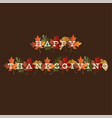 thanksgiving typography on gradient leaves vector image vector image