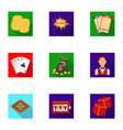 the set of symbols casino games gambling for vector image vector image