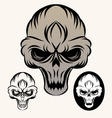 the-skull vector image vector image