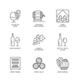 Thin line wine icons set vector image vector image