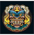 tiki mask esport mascot logo vector image vector image