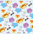 toy animals faces bashower background vector image vector image