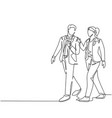 urban commuter workers concept one single line vector image