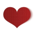 Valentines Day realistic textile Heart Card vector image vector image