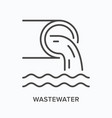 wastewater flat line icon outline vector image