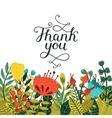 Thank you card with handdrawn lettering vector image