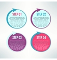 bright infographic circles with arrows set vector image