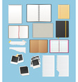 Set include notebooks and papers vector image