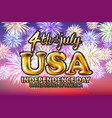 4 july usa independence day gold balloon firework vector image vector image
