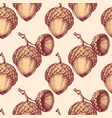 acorn seamless pattern vector image vector image