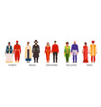 asian national clothes set vector image