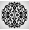 Beautiful ornament on white background vector image vector image
