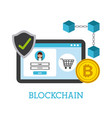 blockchain digital technology shopping online vector image
