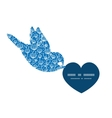 blue white lineart plants birds holding vector image