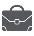 briefcase glyph icon baggage and bag portfolio vector image vector image