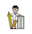Businessman checklist vector image