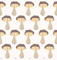 cartoon cep mushroom doodle hand drawn vector image vector image