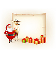 Christmas thematic parchment vector image