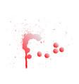 colorful paint splatterspaint splashes set vector image vector image