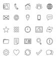Contact line icons on white background vector image vector image