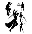 costume silhouette vector image