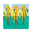 Cyclist Riding Bicycle Cycling Retro vector image vector image