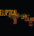 elliptical trainers from new zealand text vector image vector image
