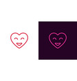 emoji heart heart with smile vector image