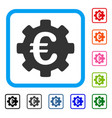 euro development gear framed icon vector image vector image