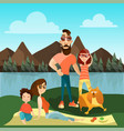 family travel concept vector image vector image