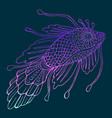 fantasy mystical fish vector image vector image