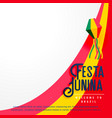 festa junina holiday background vector image vector image