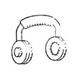 figure headphones to listen and play music vector image vector image