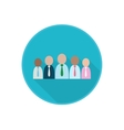 flat icon with working group of co-workers vector image vector image