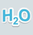 Formula of water H2O sign sticker vector image vector image
