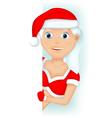 girl - christmas vector image vector image