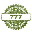 grunge textured 777 stamp seal vector image