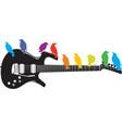 guitar-birds vector image vector image