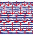 Hand drawn seamless pattern Anchors on striped vector image