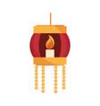 happy bhai dooj lantern with burning candle vector image vector image