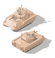infantry combat vehicle with dynamic protection vector image