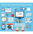 Internet Service Business Concept Graphic Design vector image vector image