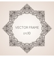 Intricate star floral frame