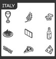 italy outline isometric icons vector image