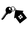 key with a keychain vector image vector image