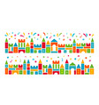 kids castle from colorful toy blocks vector image vector image