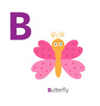 Letter C Butterfly insect Zoo alphabet English abc vector image vector image