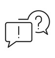 linear faq chat question mark exclamation point vector image