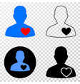 lover heart eps icon with contour version vector image vector image