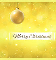 merry christmas text on decoration gold background vector image vector image